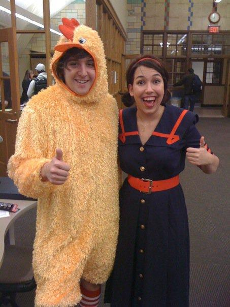 Andy in chicken suit
