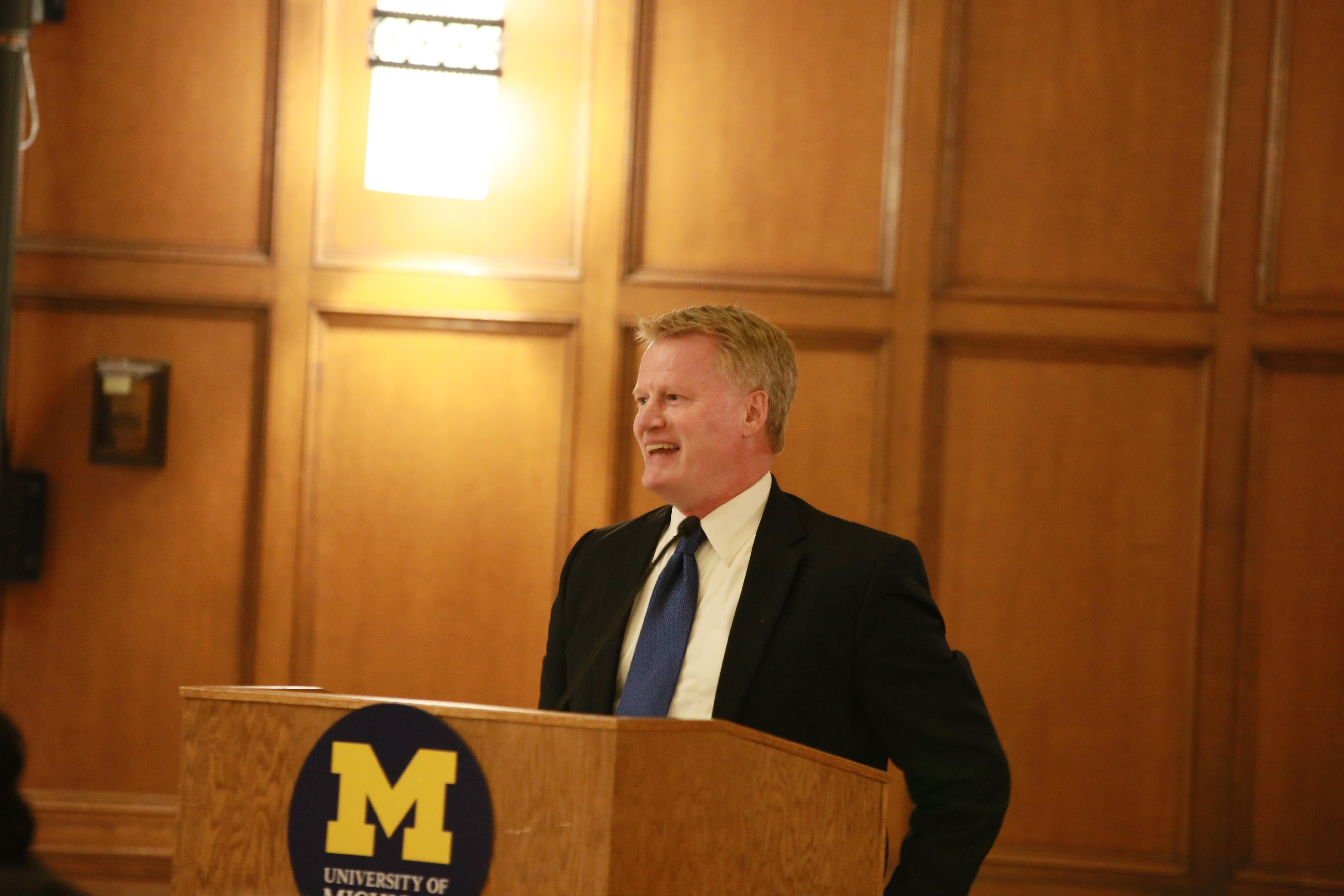 John U. Bacon, emcee & board member